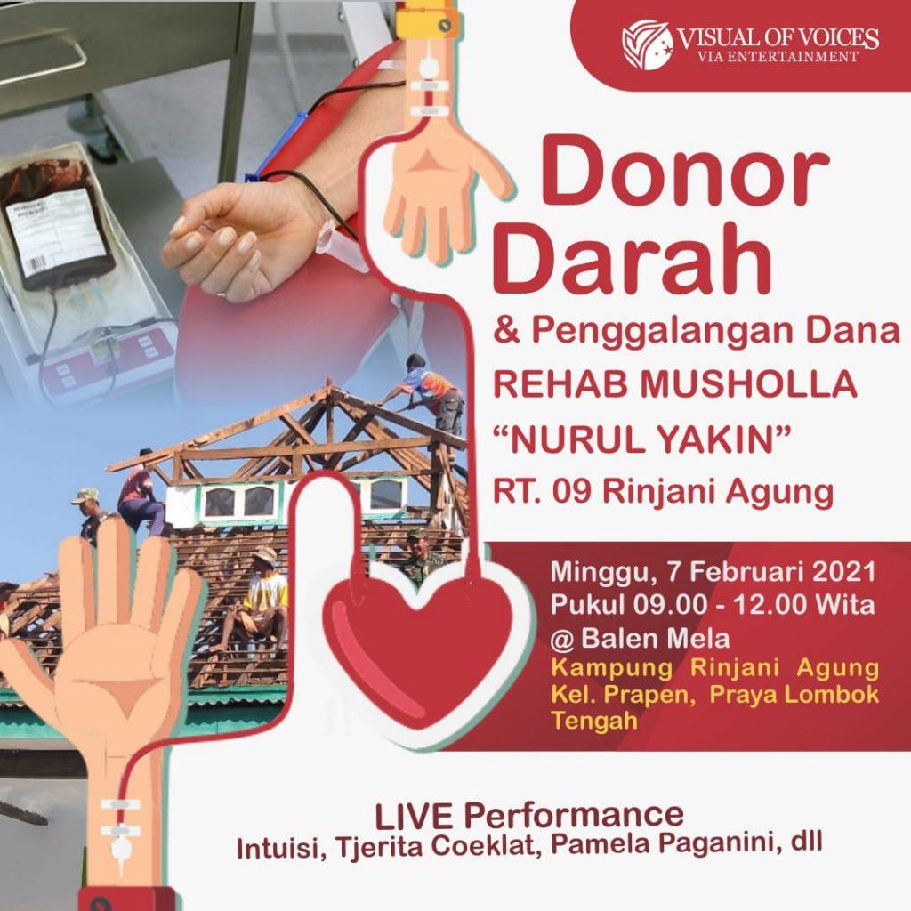donor darah dan penggalangan dana
